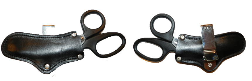 Trauma Scissors Sideways Holster, Right Side Carry Image