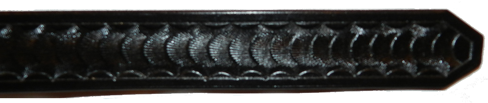 1.50 Inch, Basketweave, Black Image